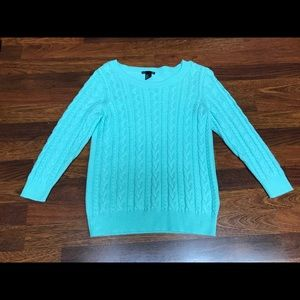 H&M Teal Cable Knit Sweater