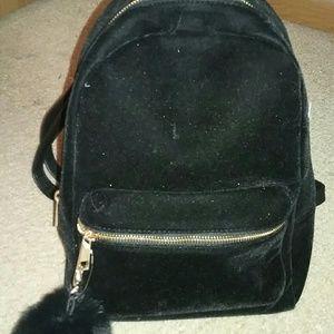 Black velvet xhilaration backpack
