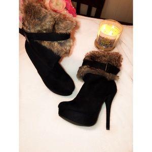 Shoes - Faux fur High Heels Boots