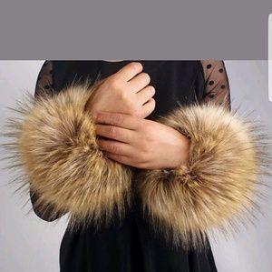Real fox cuffs