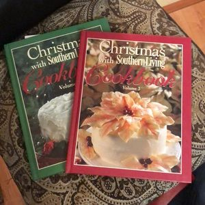 vintage Christmas cookbooks from southern living