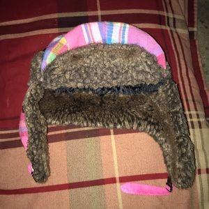 D&Y Pink Plaid Trapper Hat