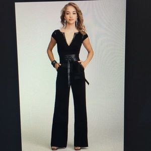 Black Bebe Jumpsuit with belt