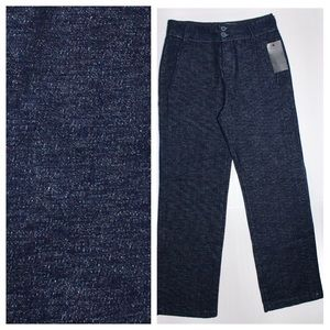 Zara Indigo Knit Wide Leg Trousers