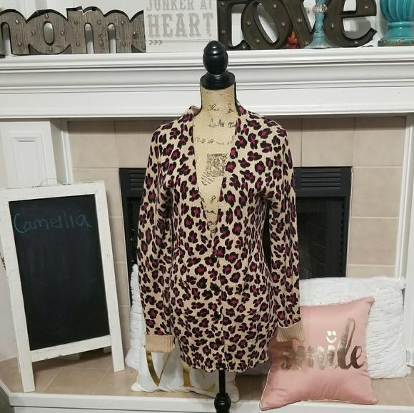 94% off Camilla Sweaters - Camellia chunky leopard print cardigan ...