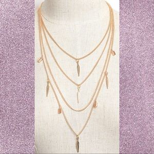 COMING SOON Gold Layered Feather Necklace