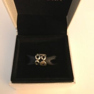 Pandora Sterling Charm with CZ