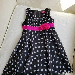 Beautiful Black &White Polka Dot Dress