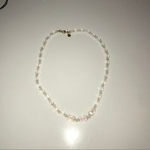 Clear white Gemmed J Crew Necklace and Bracelet