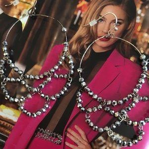 Silver Shimmer Chandelier Earrings