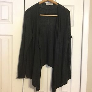 Gray LOFT Draped Cardigan