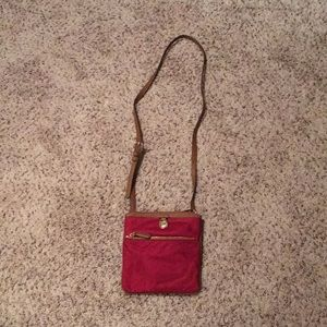 Michael Kors Red Nylon Crossbody Bag