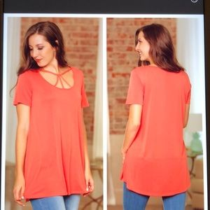 Infinity Raine coral colored  Tunic