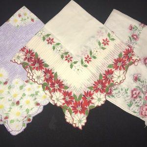 3 handkerchief hankies SOLD