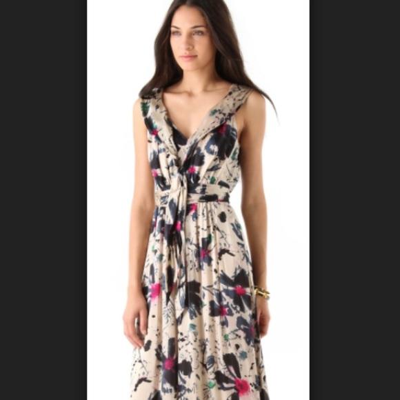 Rachel Zoe Dresses   Silk Floral Maxi   Poshmark