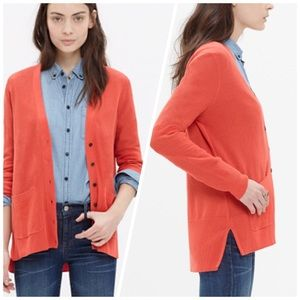 Madewell Spring Weight Cotton Cardigan Sweater