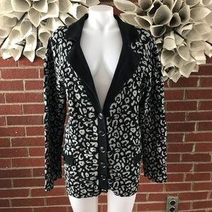 Lane Bryant Leopard Print Sweater Coat Cardigan