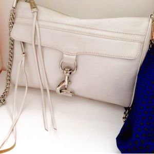 Rebecca Minkoff White Chain Strap Crossbody Bag