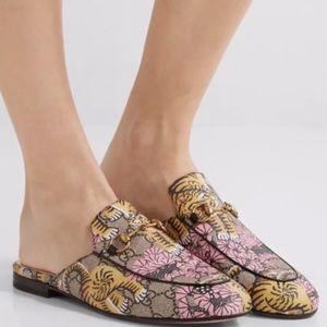 Gucci Bengal Tiger Princeton Loafer Slipper Mules