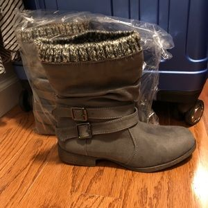 Gray booties size 8