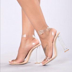 Clear Strap Nude Heel