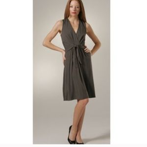 Theory Kenza tie front linen dress