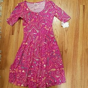 Lularoe pink patterned Nicole medium NWT