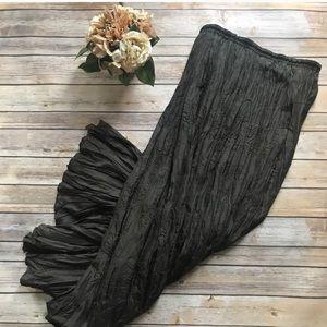 Anthropologie • Silk crinkle maxi skirt