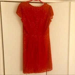 Loft Red Lace Dress (12).  Perfect for the holiday