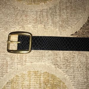 Urban Outfitters Black belt with gold buckle
