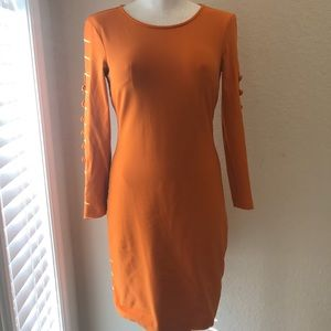 CYNTHIA ROWLEY Winter orange dress