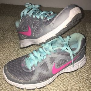 Nike Shoes - Grey, Pink and Aqua