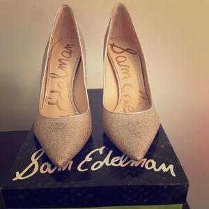 Sam Edelman gold glitter pumps size 8.5