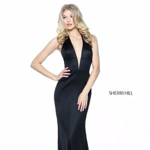 Authentic NEW Sherri Hill 50919 Black Prom Gown