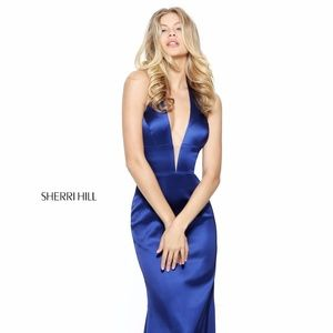 Authentic NEW Sherri Hill 50919 Blue Prom Gown
