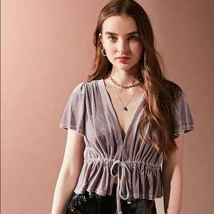 Urban Outfitters Velvet Top NWT