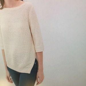 Zara Knit size 2 cream color asymmetrical sweater