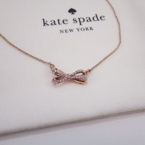 Kate Spade Rose Gold Bow Pendant Necklace