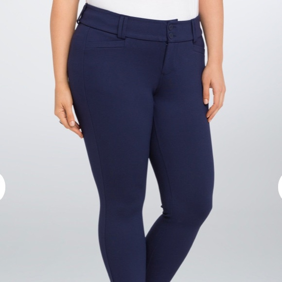 226d7d4be0705 torrid Pants - Cropped Trouser Pant- Navy All-Nighter Pointe