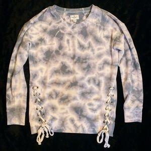 American Eagle Lace Up Sweatshirt