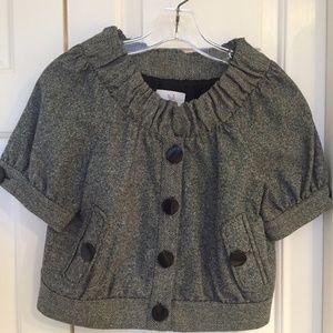 Tibi Black & White Blazer Size 4