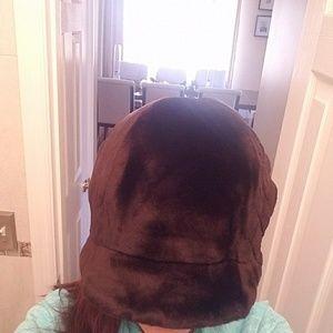 Brown Sheepskin Fur Hat Sacks 5th Av