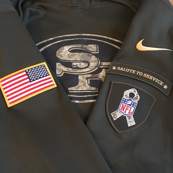 on sale 9d97c c9990 San Francisco 49ers Salute to Service Nike Hoodie