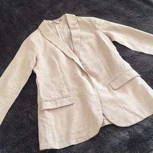 Forever 21 Faux Linen Blazer Like New! Size XS