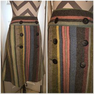 Vintage wool striped skirt size XS