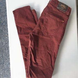 Size 4 Zara slim burgundy skinny jeans