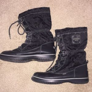 Black Coach Winter Boots