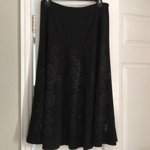 Beautiful black skirt with beaded design size 8