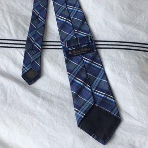 Brooks Brothers Blue Tartan Plaid Silk Tie