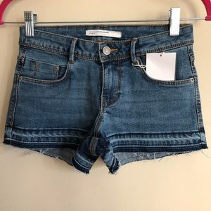 Zara Low Waist Denim Shorts